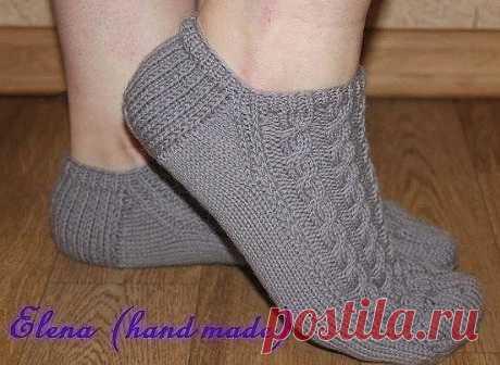 Очень удобные следки при носке (Вязание спицами) — Журнал Вдохновение Рукодельницы