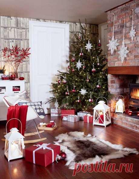 Рождественский декор интерьера - сказка своими руками