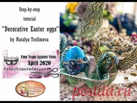 "Tutorial ""Decorative Easter eggs"" for @Finnabair Art Studio"