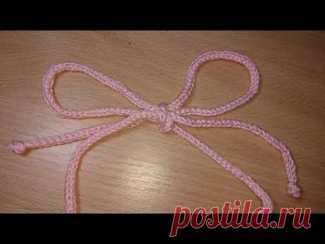 Полый шнур крючком,спицами - YouTube.Два способа как связать шнурок-видео