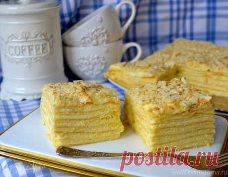 Самый быстрый и вкусный рецепт торта «Наполеон»   Такой тортик обычно не занимает много времени, но приносит море удовольствия!     Рецепт из домашней коллекцииПорций: 12-14Ингредиенты:  Для коржей:● мука 4 чашки (объем чашки 0,25 л) или 600-650 г●…