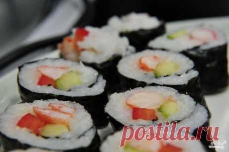 Роллы с креветками - пошаговый кулинарный рецепт на Повар.ру