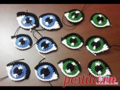How to knit eyes. Master class