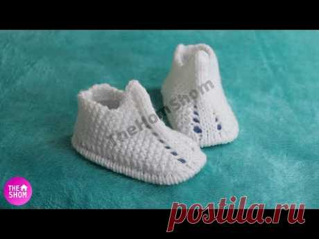 knitting baby booties, newborn baby shoes for beginners, saral jutti new design, how to knit booties