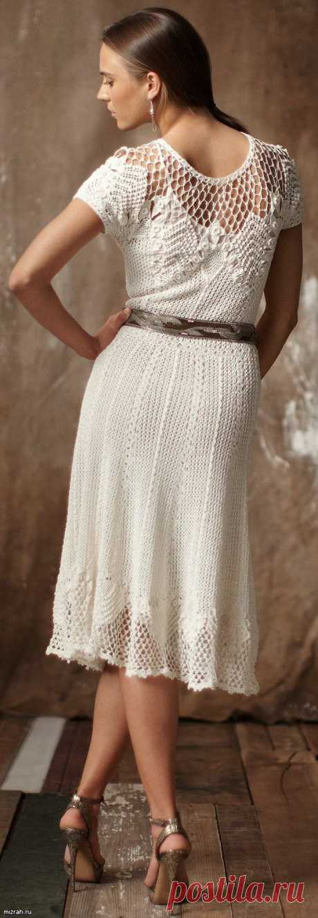 Винтажное платье крючком.