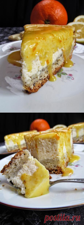Постигая искусство кулинарии... : Творожный пирог с шоколадно-апельсиновым соусом.