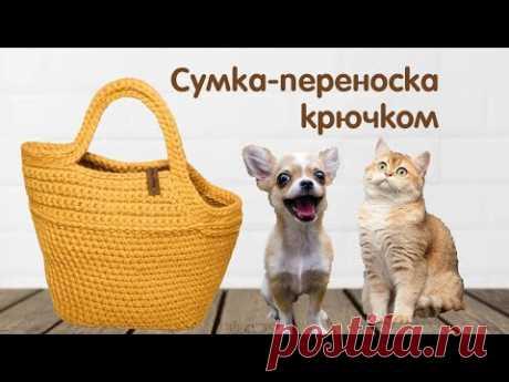Как связать крючком Сумку-переноску для собак и кошек