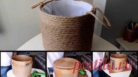 Создание идеи для вашей корзины для белья-Diy декоративный сад