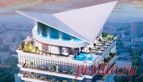 Уникальный столичный проект ЖК с террасами на крыше состоящий из трех домов. На каждом доме своя концепция террасы. На одном расположиться зеленая зона с парком и зимним садом. На втором ресторан с видом на Киев. И на третьем - музей будущего.