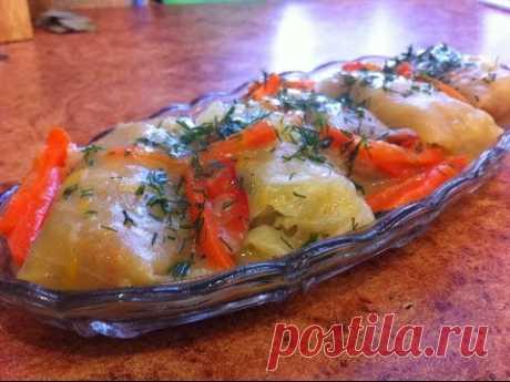 Постные голубцы с картофелем