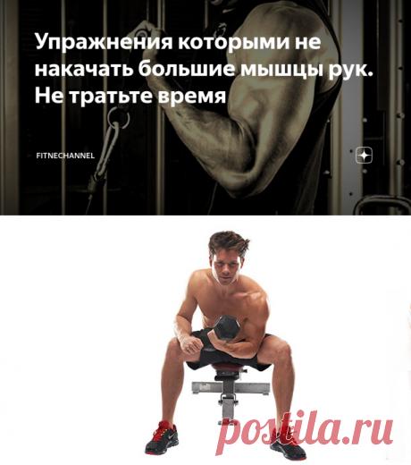 Упражнения которыми не накачать большие мышцы рук. Не тратьте время | fitnechannel | Яндекс Дзен