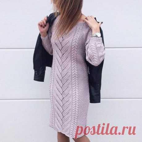 Красивое платье, связанное спицами (схема, выкройка, описание) | Рукоделие