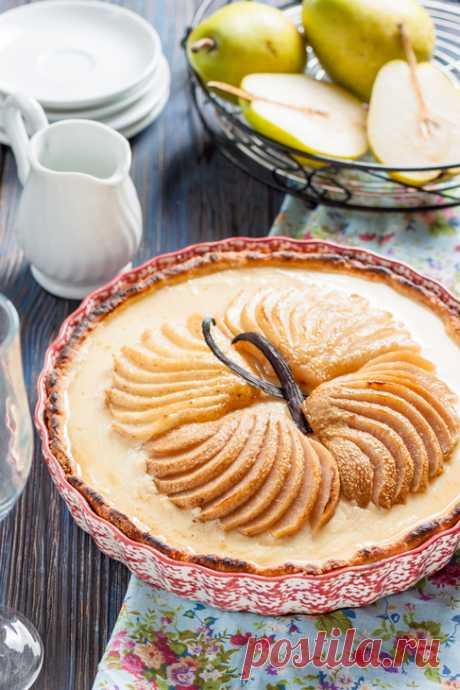 Тарт с крем-брюле и запеченными грушами – пошаговый рецепт с фотографиями