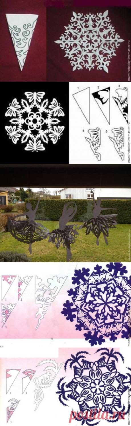 Балет на окне, или Вырезаем интересные снежинки - Ярмарка Мастеров - ручная работа, handmade