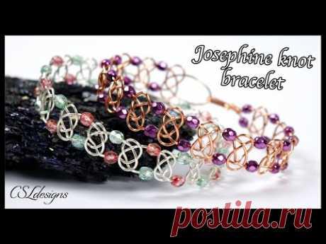 Josephine knot wirework bracelet