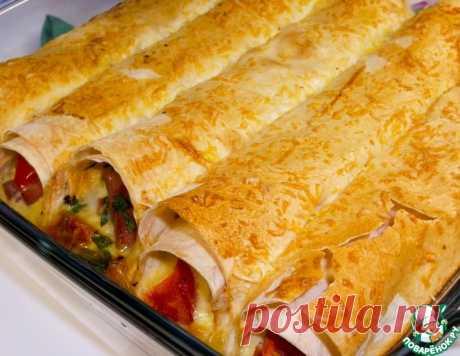 Трубочки из лаваша с сытной начинкой – кулинарный рецепт