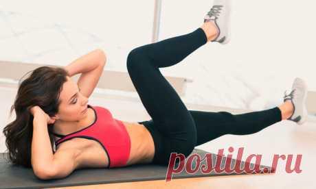 Скручивания - самые эффективны упражнения для похудения!