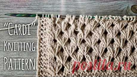 Идеально для КАРДИГАНА: вяжем узор «Cardi» / Beautiful knitting pattern for cardigan