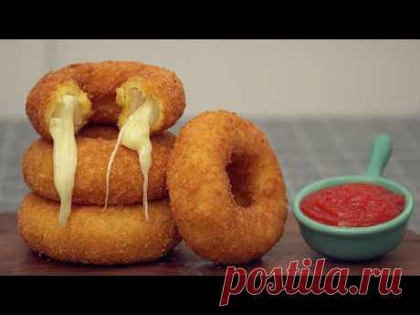 Луковые кольца с моцареллой Mozzarella Onion Rings