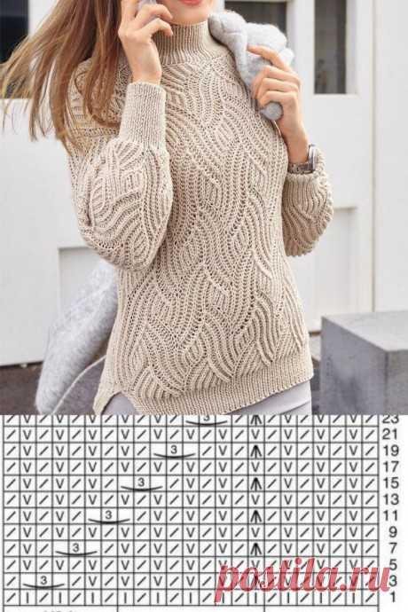 Узоры для свитеров на весну