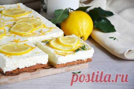 Творожный торт без желатина с лимоном рецепт с фото пошагово и видео - 1000.menu