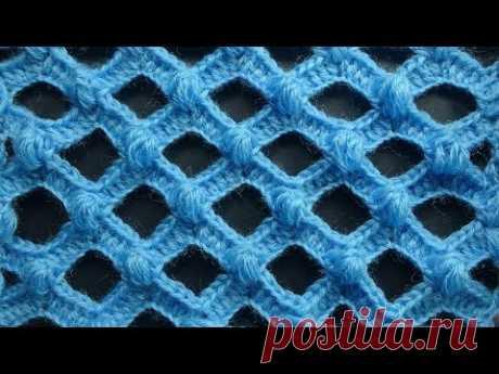 Начинаем вязать – Видео уроки вязания » Ажурный узор с пышными столбиками – Вязание крючком – Урок №85