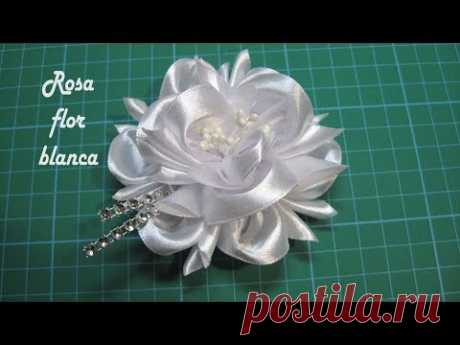 ❀ DIY - Rosa FLOR blanca ❀ Pink white FLOWER ❀ زهرة بيضاء وردي ❀ Розовый белый цветок ❀