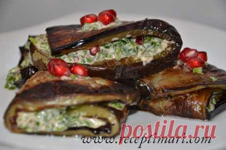 snack from an eggplant for a holiday