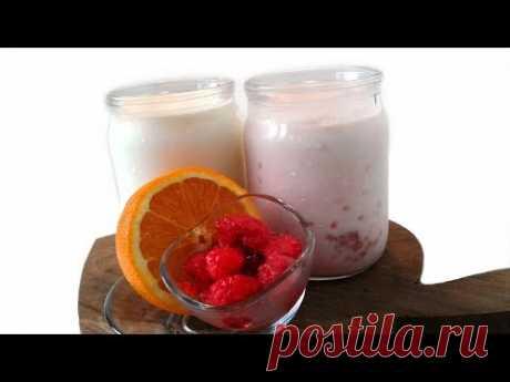 Мацони Фруктовое со Вкусом Малины и Апельсина