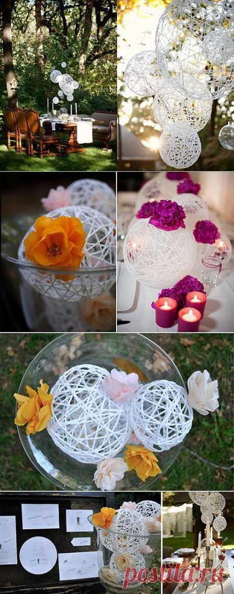 Красивые шары на свадьбу своими руками
