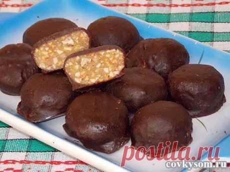 "Домашние конфеты с орехами ""Метеорит"""