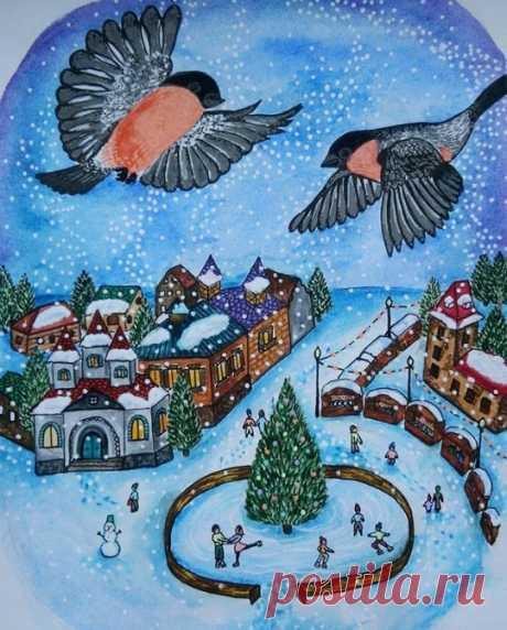 Сообщество иллюстраторов | Иллюстрация Рождество в Европе.