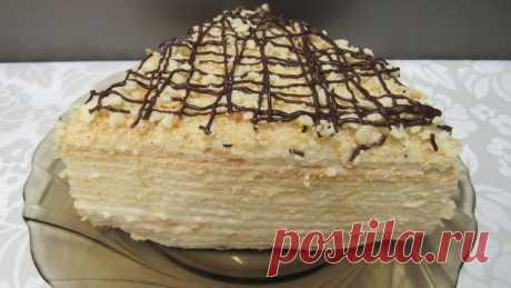 """Многослойный """"Сметанник"""" - самый простой торт - Простые рецепты Овкусе.ру"""