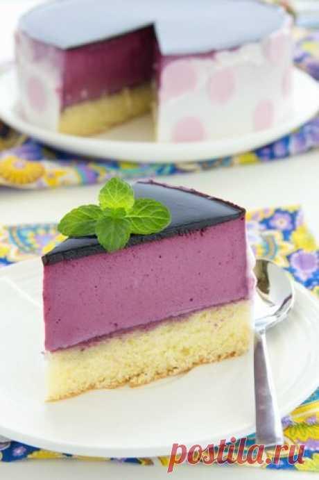 Торт с чернично-йогуртовым муссом.                             А в сообществе Готовим вместе 2 продолжается неделя посвященная муссам и десертам, тортам, пирожным приготовленными с ним. Рецепт этого…