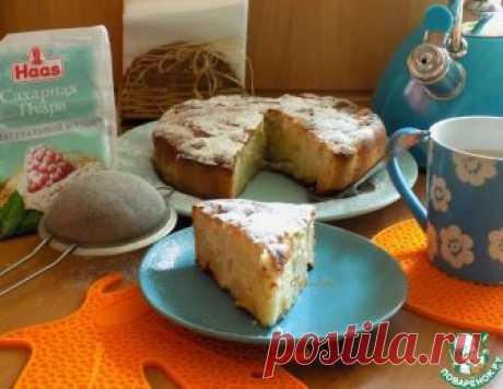 Грушево-яблочный заливной пирог – кулинарный рецепт