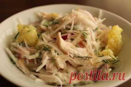 Рецепт на выходные: Салат с куриной грудкой и дайконом | Изюминки