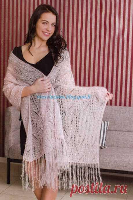 ВСЕ СВЯЗАНО. ROSOMAHA.: Красивая шаль из кидмохера. Лучший подарок.