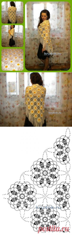 Шаль крючком – работа Нины - вязание крючком на kru4ok.ru