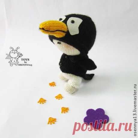 """Мастер-класс """"Пупсик Пингвин"""" - вязаная игрушка,вязание спицами,МК,авторская игрушка"""