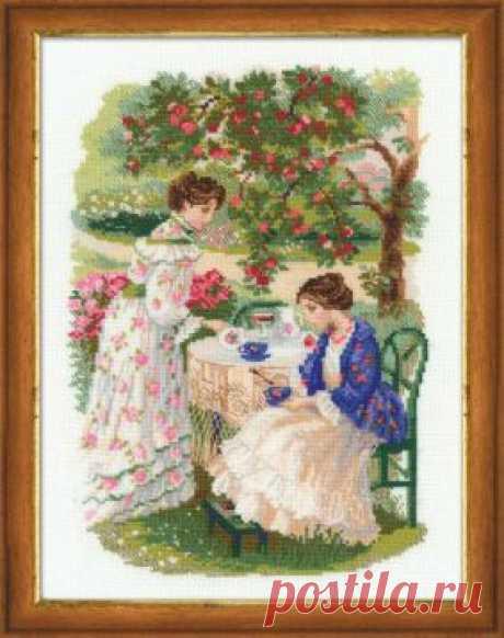 Фабрика Пряжи :: RIOLIS Сотвори сама(Жанровые сценки) :: 1140 Русская усадьба. Чай под яблоней