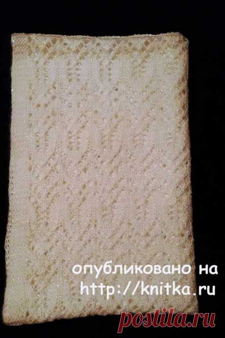 Палантин спицами. Работа Ольги Молчановой, Вязание для женщин