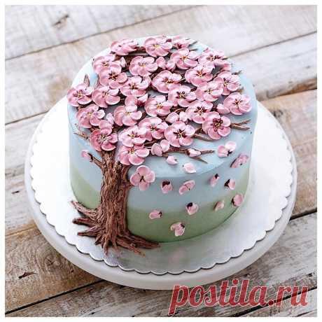 Цветущие торты с весенним настроением