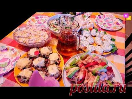 HOLIDAY TABLE on birthday! More hotly, Salads, Snack. Nataly Gorbatova