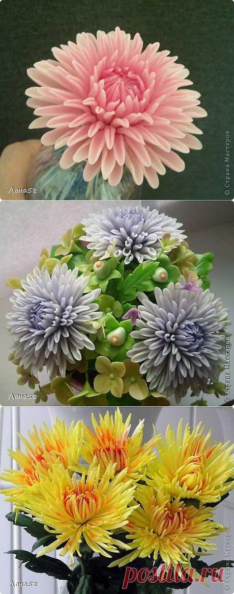 Мини МК по лепке лепестков хризантемы.