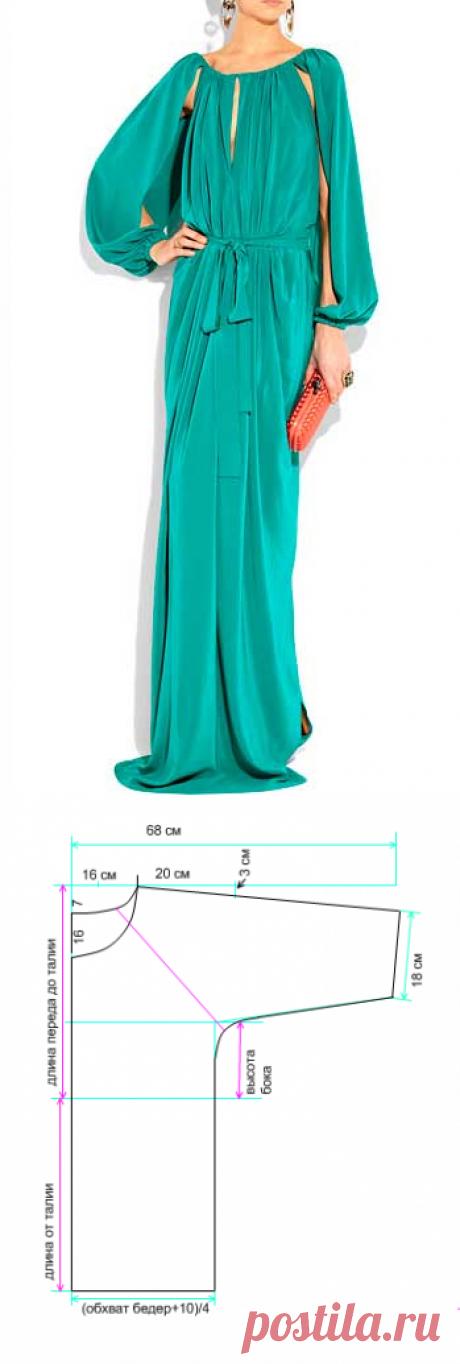 9c4dfd89381 моделируем и кроим платье-тунику - Самое интересное в блогах