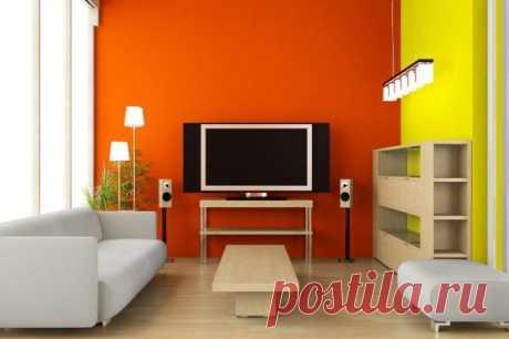 Применяем оранжевый цвет в интерьере