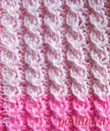 Гусиные лапки спицами - схема вязания узора