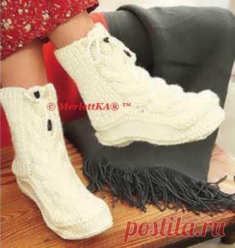 Вязание носков и обуви. Идеи новогодних подарков