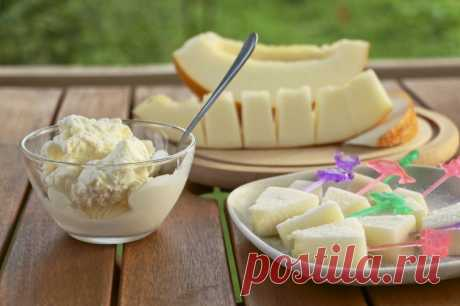 Мороженое из дыни — Sloosh – кулинарные рецепты