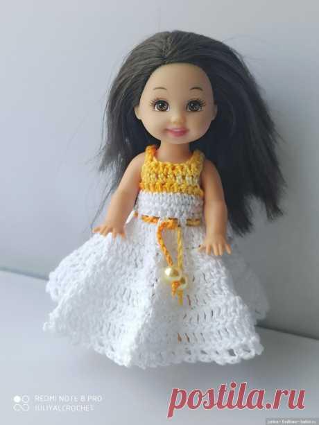Новый мк платья для Келли крючком / Вязание для кукол / Бэйбики. Куклы фото. Одежда для кукол